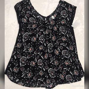 Supplies Women's Floral Crochet Detail Top NEW
